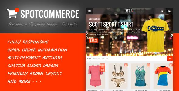 SpotCommerce - Blogger Shopping Template - Blogger Blogging