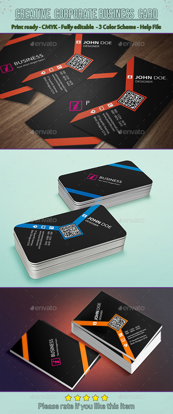 GraphicRiver Creative Corporate Business Card 10052537