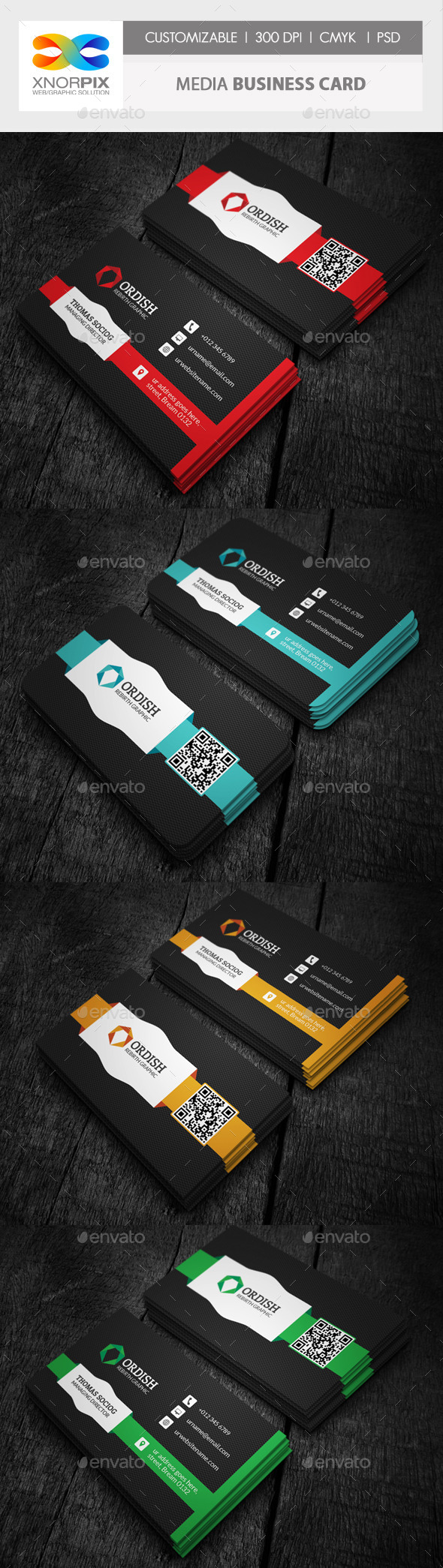 GraphicRiver Media Business Card 10052546