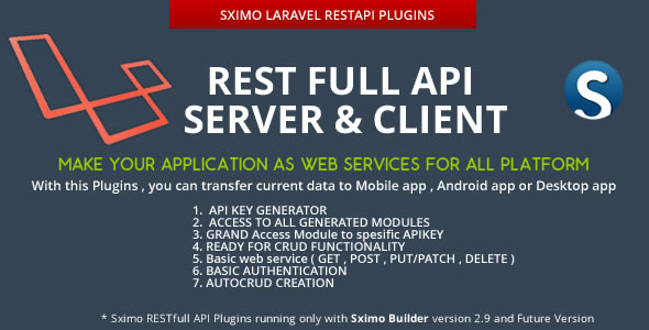 CodeCanyon Laravel RESTfull API Client & Server 10052555