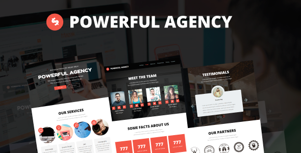 ThemeForest Powerful Agency Animated Adobe Muse Template 9991394