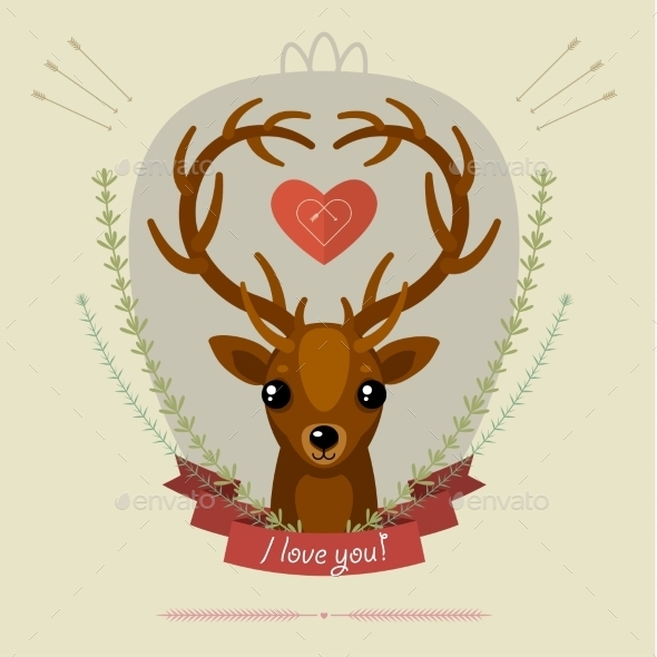 GraphicRiver Greeting Card with Deer 10052569