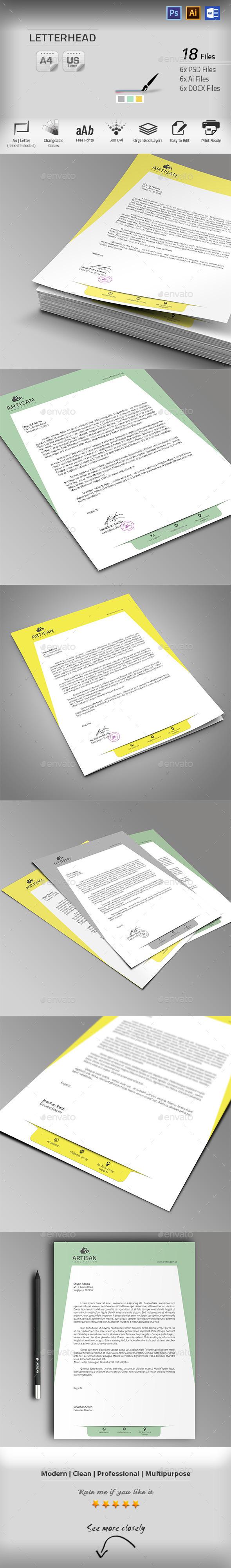 GraphicRiver Letterhead 10052710