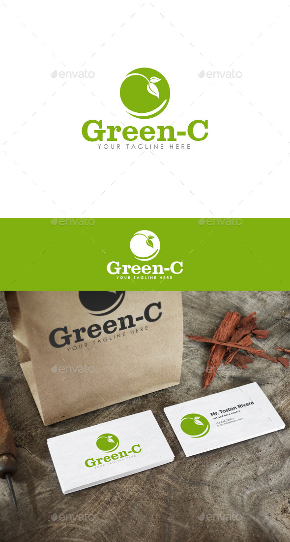 GraphicRiver Green-C Logo 10052771