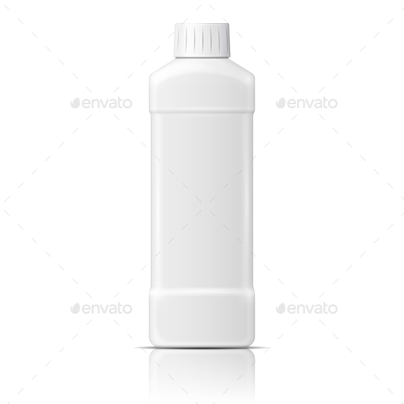 GraphicRiver White Plastic Bottle for Dishwashing Liquid 10052873