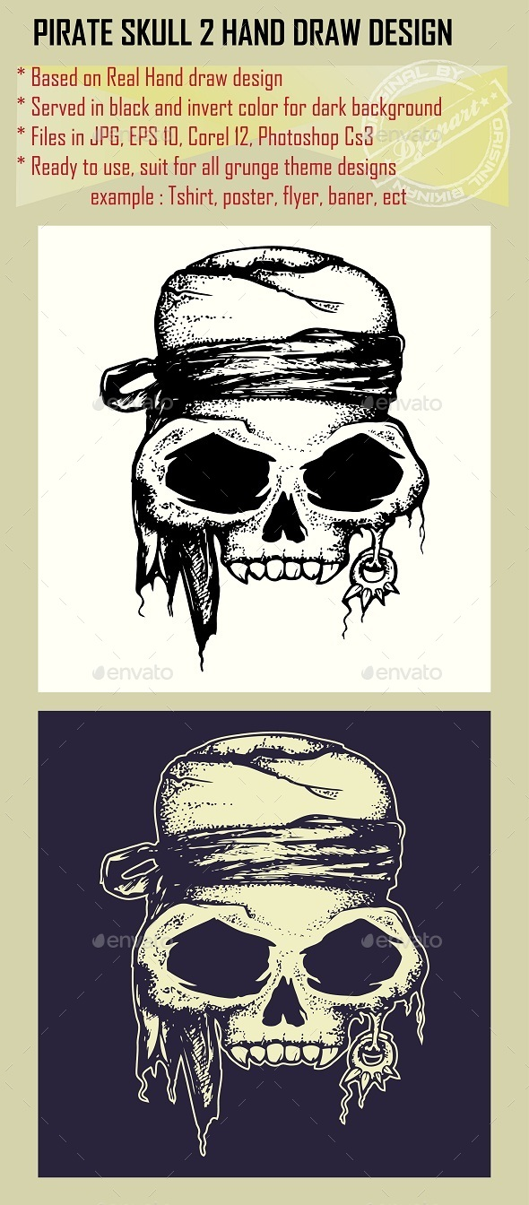 GraphicRiver Pirate Skull 10052981