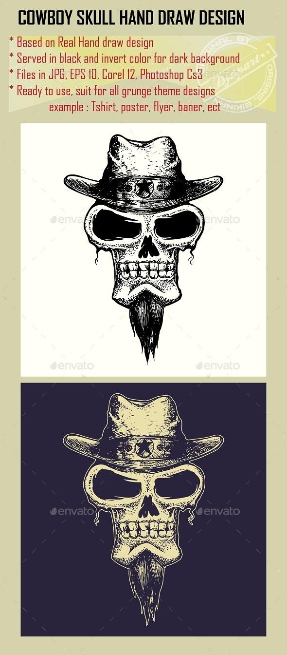 GraphicRiver Cowboy Skull 10053187