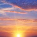 the sun rays illuminate the sky above the horizon - PhotoDune Item for Sale