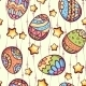 Seamless Pattern of Cartoon Color Eggs - GraphicRiver Item for Sale