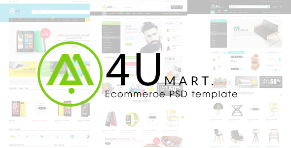 ThemeForest M4U Ecommerce PSD Template 10053618