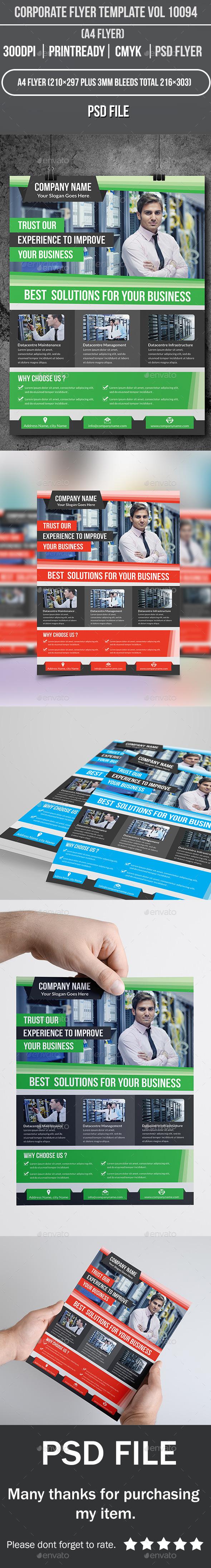 GraphicRiver Corporate Flyer Template Vol 10094 10053919