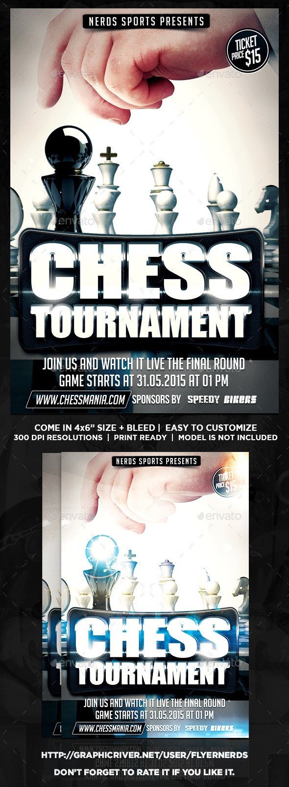 GraphicRiver Chess 2K15 Sports Flyer 10053932