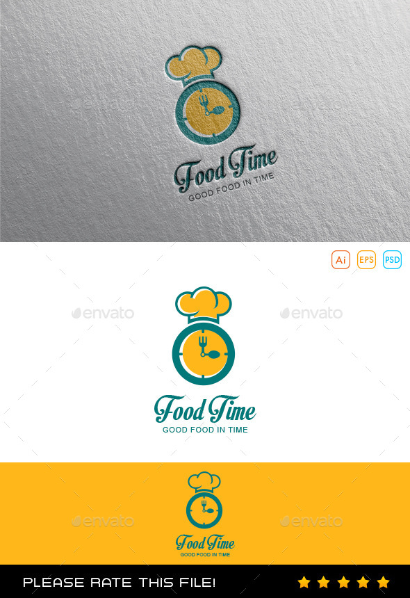 GraphicRiver Food Time Logo 10053944