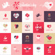 Set of Love Icons and Greeting Cards - GraphicRiver Item for Sale
