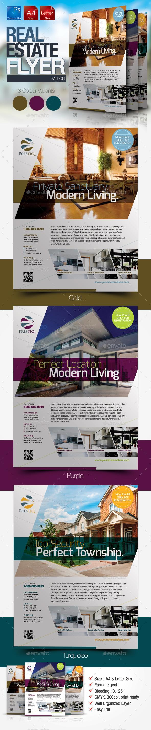 GraphicRiver Simple Real Estate Flyer Vol.06 10054058