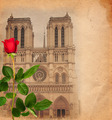 Vintage Background with Notre Dame - PhotoDune Item for Sale