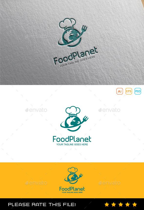 GraphicRiver Food Planet Logo 10054084