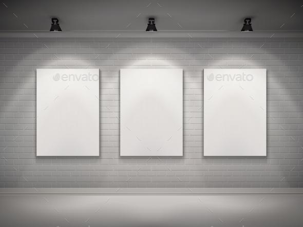 GraphicRiver Gallery Interior Background 10054190