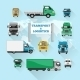 Truck Icons Flat - GraphicRiver Item for Sale
