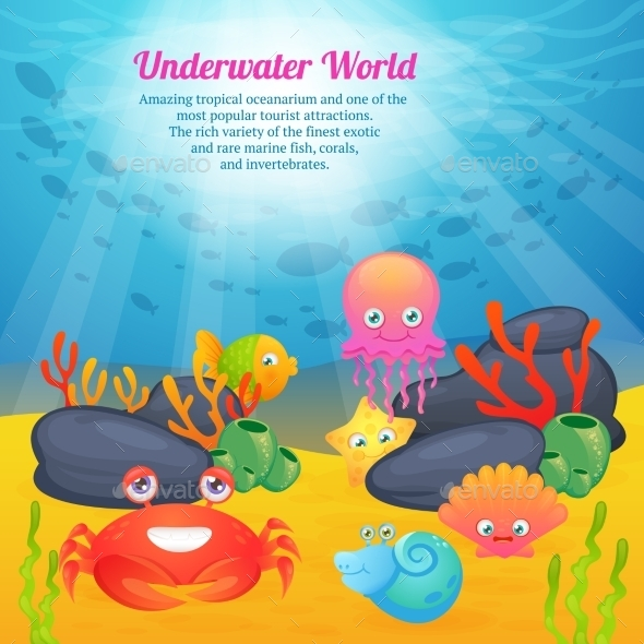 GraphicRiver Animals Underwater World Series 10054198