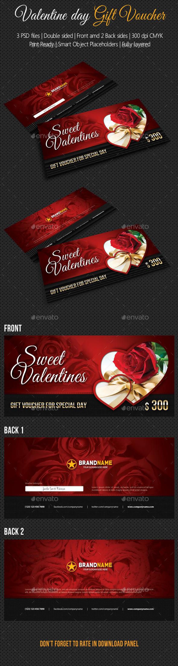 GraphicRiver Valentine Gift Voucher 10030744