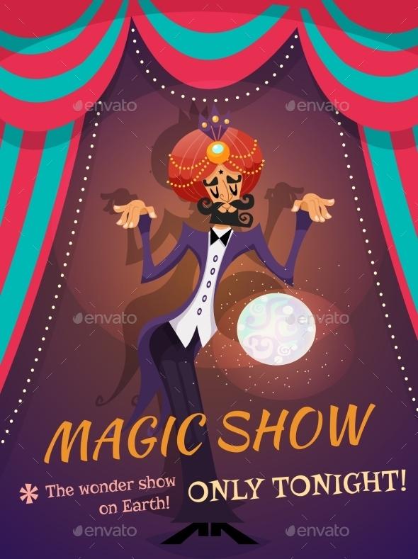 GraphicRiver Magic Show Poster 10054291