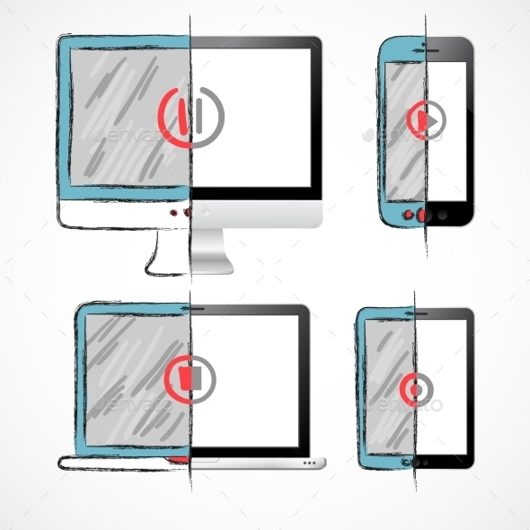 GraphicRiver Digital Devices Set 10054387