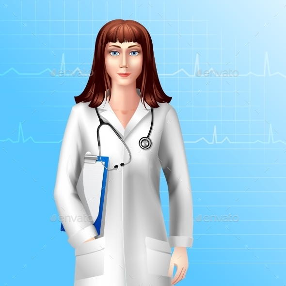 GraphicRiver Female Doctor Character 10054398