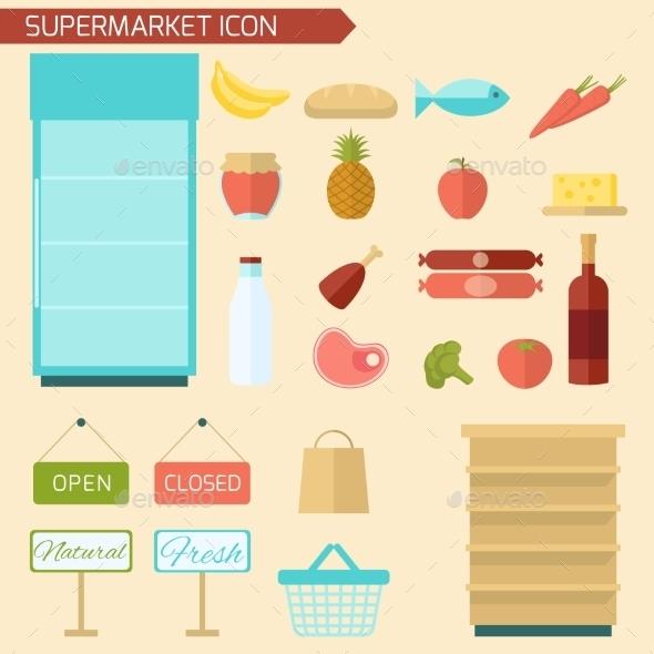 GraphicRiver Supermarket Icon Flat 10054428