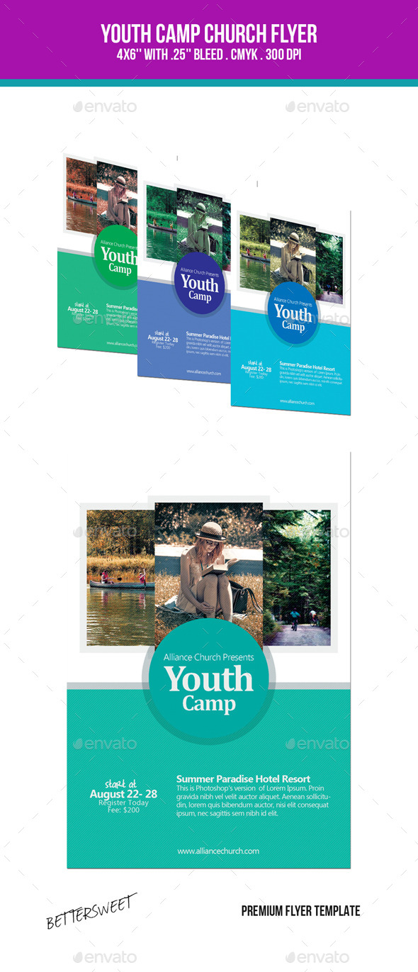 GraphicRiver Youth Bible Camp Flyer 10054445