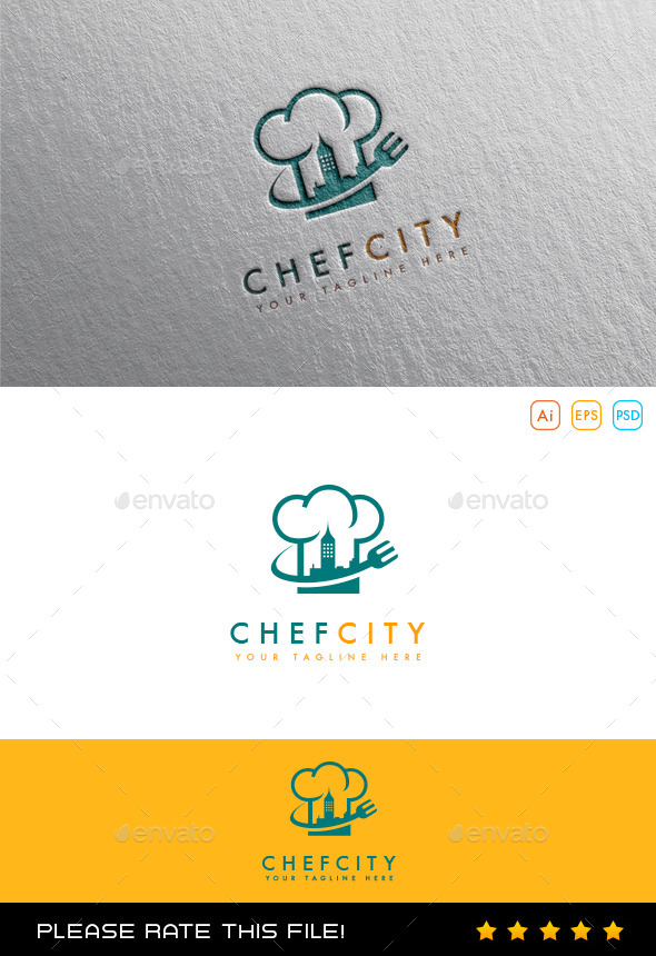 GraphicRiver Chef City Logo 10054451