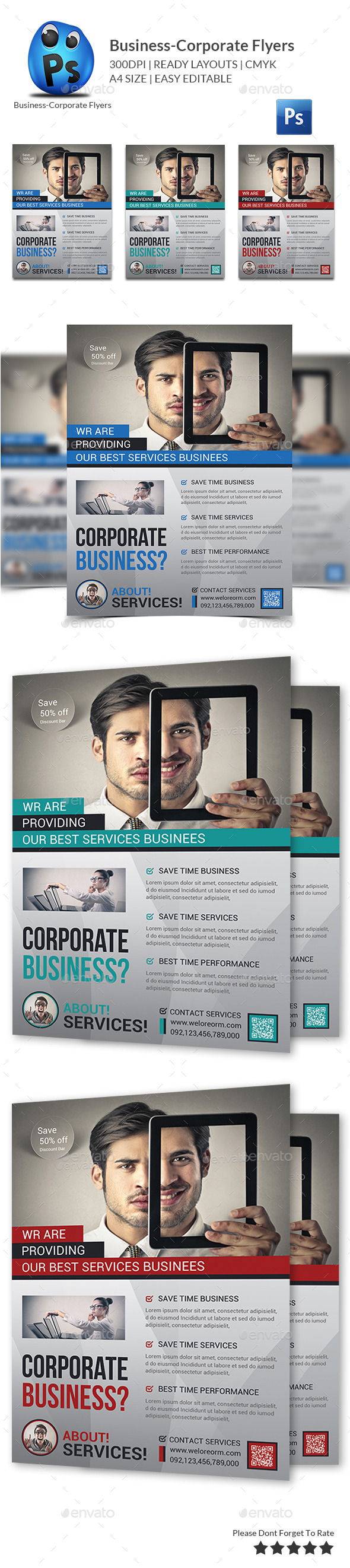 GraphicRiver Corporate Business Flyer Template 9960887