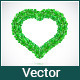 Heart of Green Leaves - GraphicRiver Item for Sale