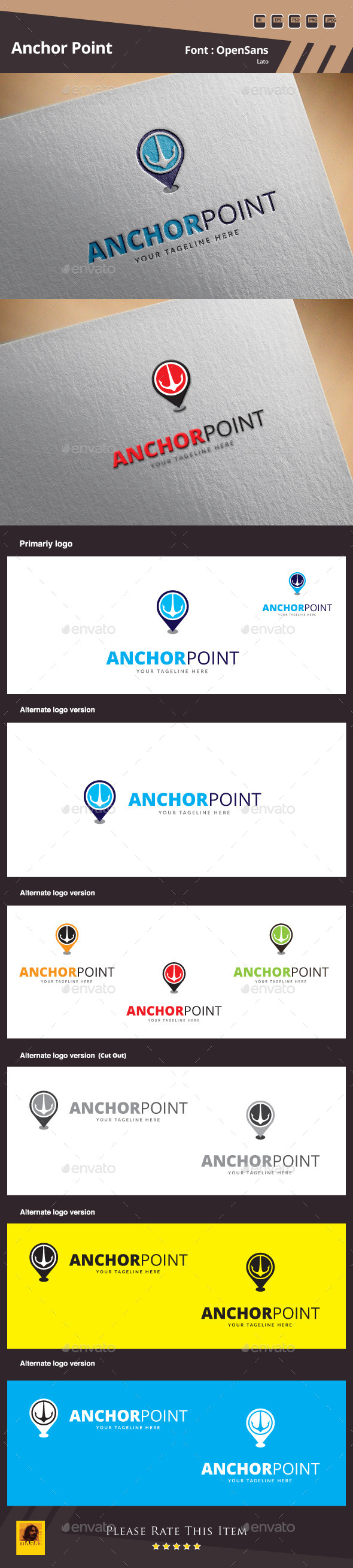GraphicRiver Anchor Point Logo Template 10054848