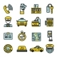Taxi Icon Set - GraphicRiver Item for Sale