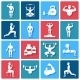 Bodybuilding Icons Set - GraphicRiver Item for Sale