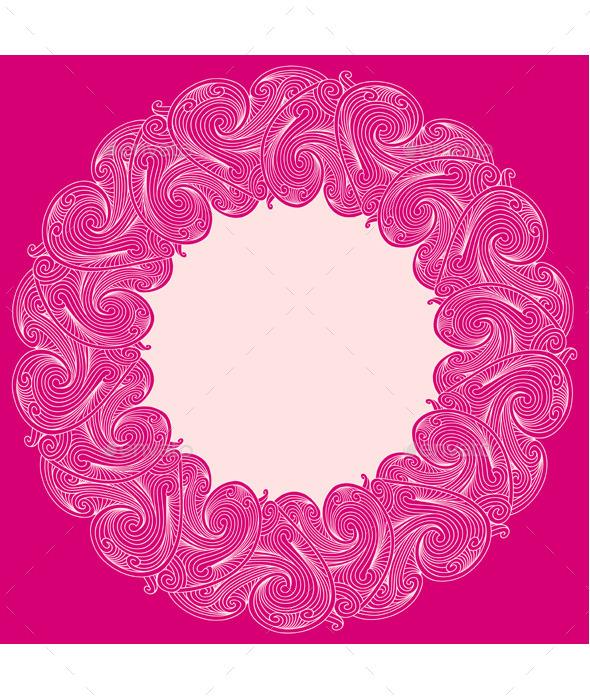 GraphicRiver Floral Frame 10055234