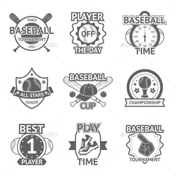 GraphicRiver Baseball Emblems Set 10055252