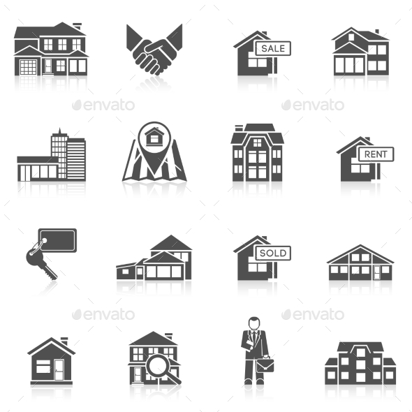 GraphicRiver Real Estate Icon Set 10055281