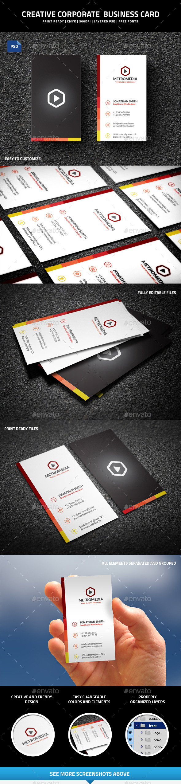 GraphicRiver Creative Corporate Business Card 52 10055468