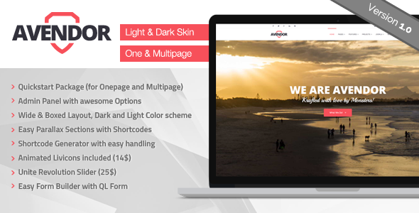 AVENDOR Responsive Multi-purpose Joomla Template