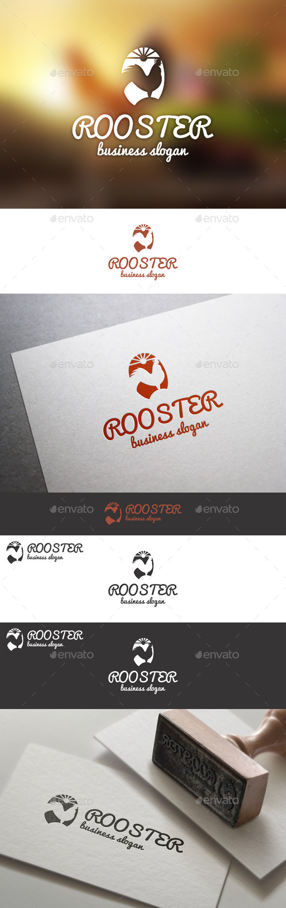 GraphicRiver Rooster Farm Animal Logo Template 10055573