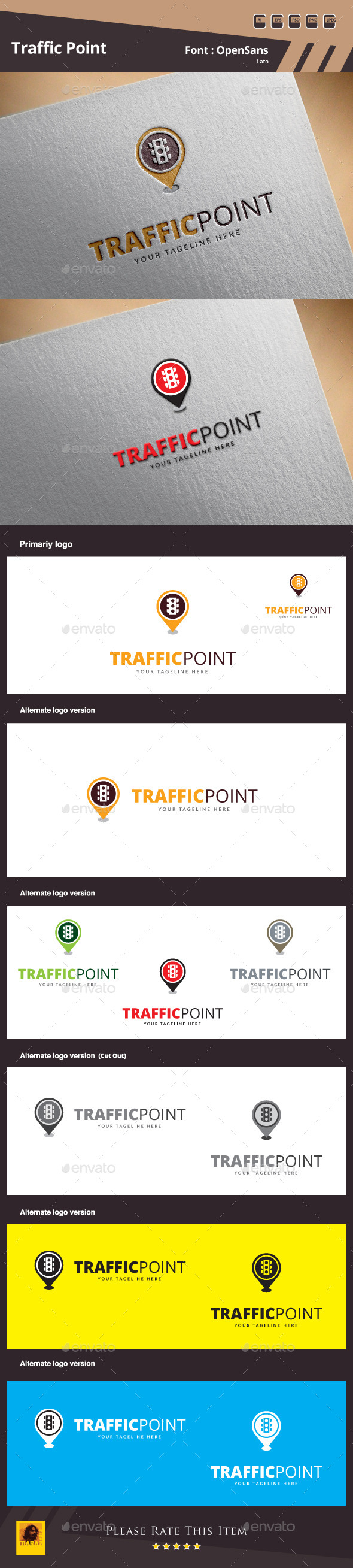 Traffic Point Logo Template