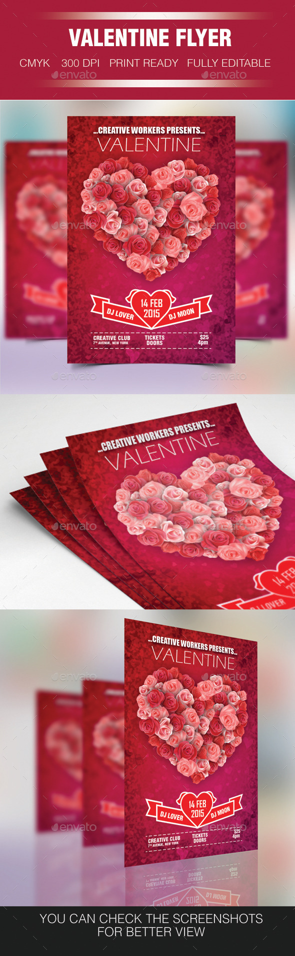 GraphicRiver Valentine Party Flyer 10055623