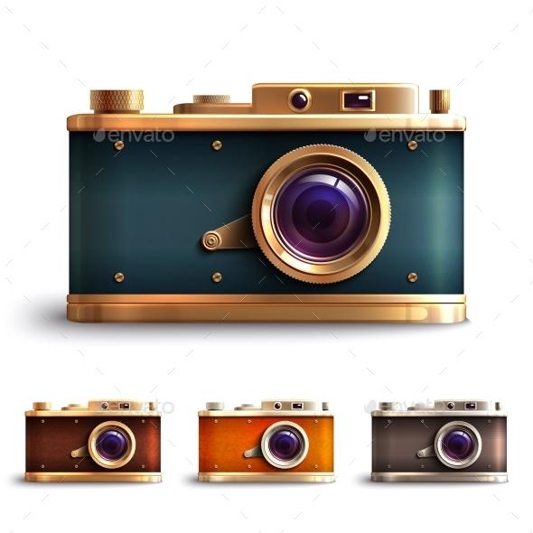 GraphicRiver Retro Style Camera Set 10055627