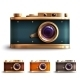 Retro Style Camera Set - GraphicRiver Item for Sale
