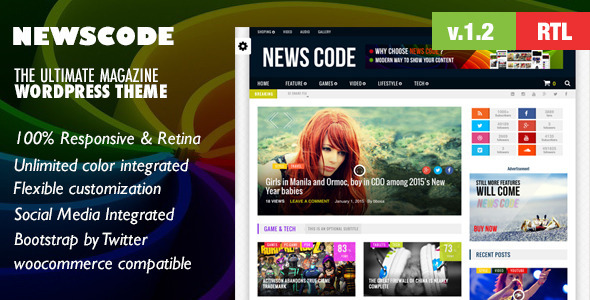 Newscode-WordPress  Review Magazine News Theme - Blog / Magazine WordPress