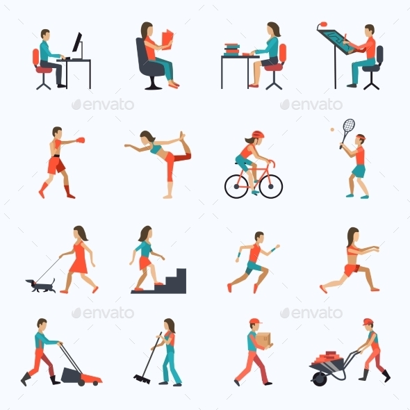 GraphicRiver Physical Activity Icons 10055659