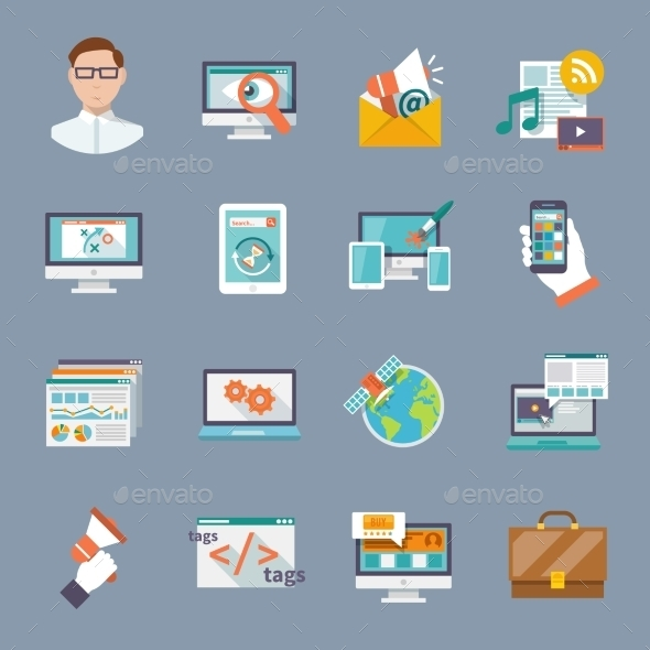 GraphicRiver Seo Internet Marketing Icon 10055672