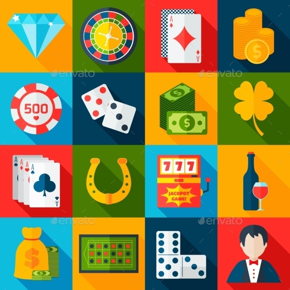 GraphicRiver Casino Flat Icons 10055694